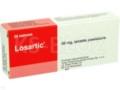 Losartic interakcje ulotka tabletki powlekane 0,05 g 28 tabl.