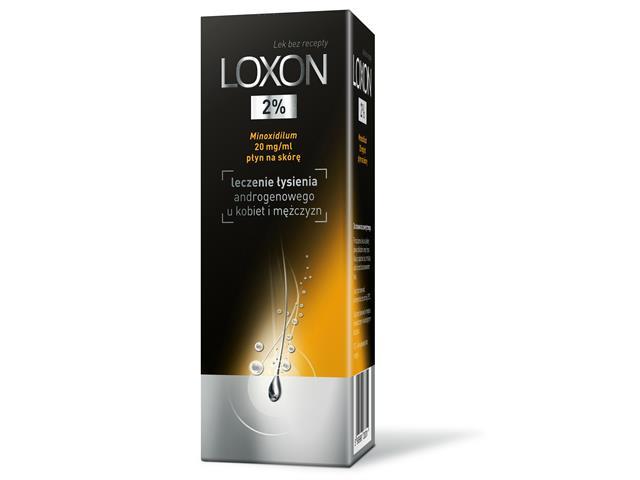 Loxon 2% interakcje ulotka płyn na skórę 0,02 g/ml 60 ml
