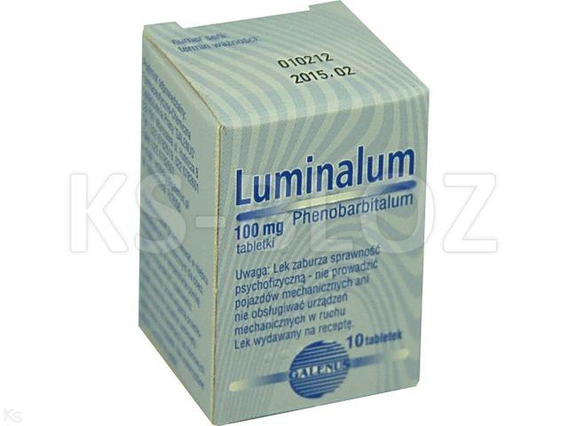 Luminalum interakcje ulotka tabletki 0,1 g 10 tabl.