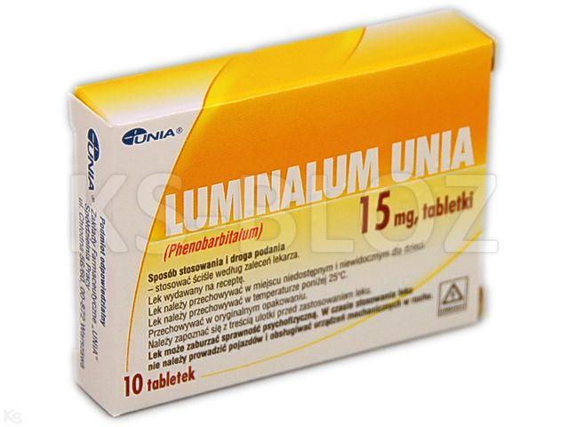 Luminalum Unia interakcje ulotka tabletki 0,015 g 10 tabl.