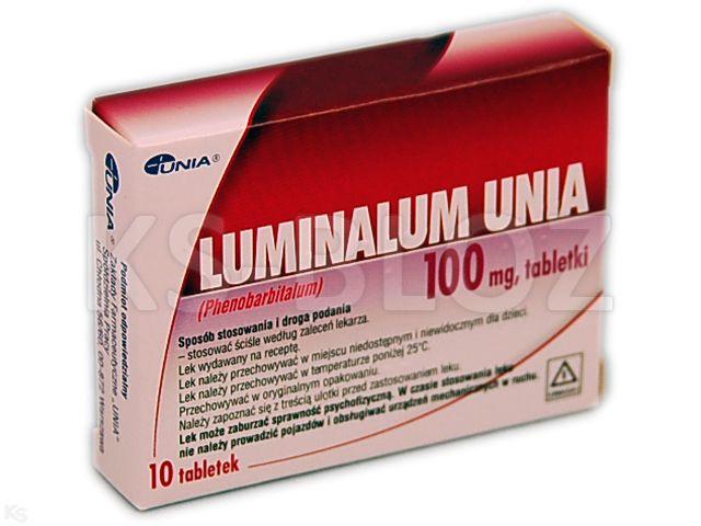 Luminalum Unia interakcje ulotka tabletki 0,1 g 10 tabl.