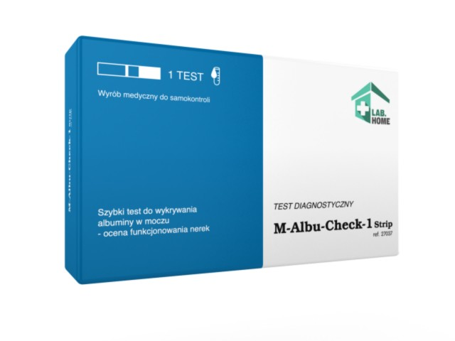 M-ALBU-Check-1 Test na albuminę w moczu interakcje ulotka   1 szt.