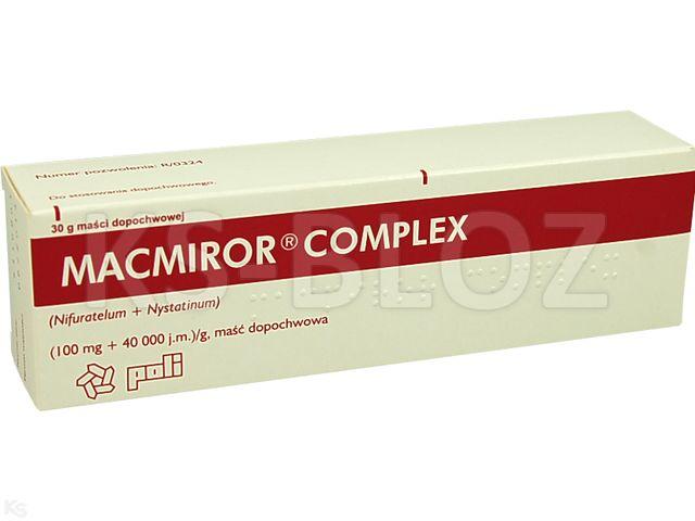 Macmiror complex interakcje ulotka maść dopochwowa (0,1g+40000j.m.)/g 30 g