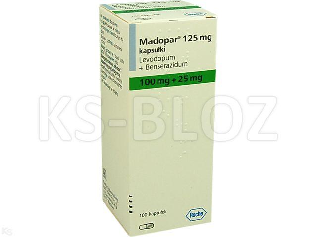 Madopar 125 interakcje ulotka kapsułki 0,025g+0,1g 100 kaps.