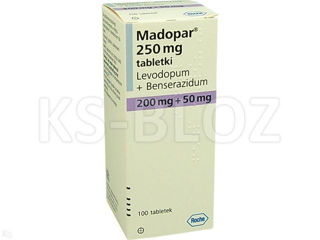 Madopar 250 interakcje ulotka tabletki 0,05g+0,2g 100 tabl.