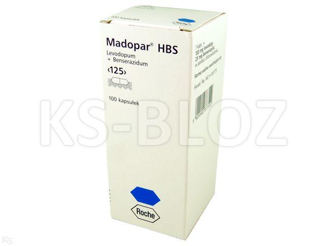 Madopar HBS interakcje ulotka kapsułki 0,025g+0,1g 100 kaps.