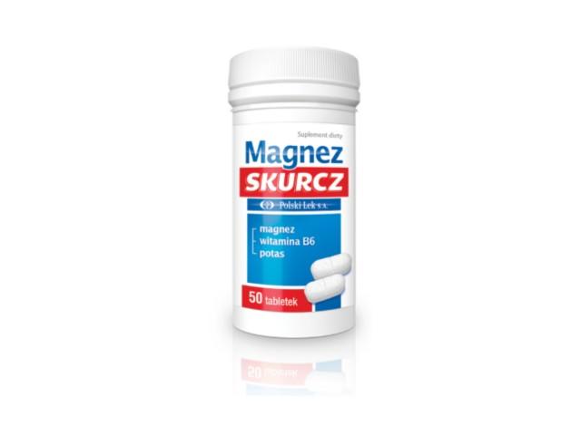 Magnez Skurcz interakcje ulotka tabletki  50 tabl.