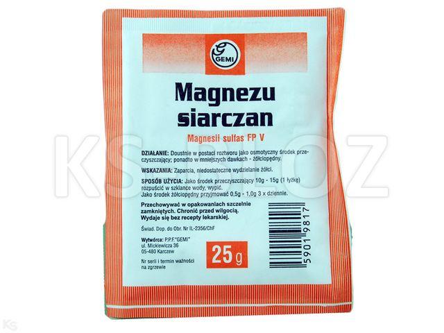 Magnezu siarczan GEMI interakcje ulotka proszek do przygotowania roztworu  25 g