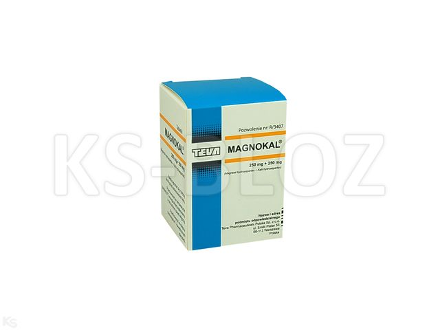MagnoKal Asparaginian interakcje ulotka tabletki 0,25g+0,25g 50 tabl.