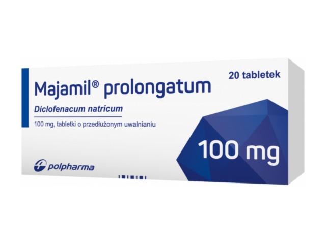 Majamil prolongatum interakcje ulotka tabletki o przedłużonym uwalnianiu 0,1 g 20 tabl.