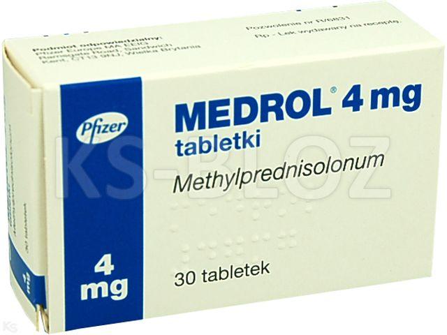 Medrol interakcje ulotka tabletki 4 mg 30 tabl.