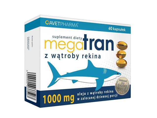 Mega Tran z wątroby rekina interakcje ulotka kapsułki  60 kaps.