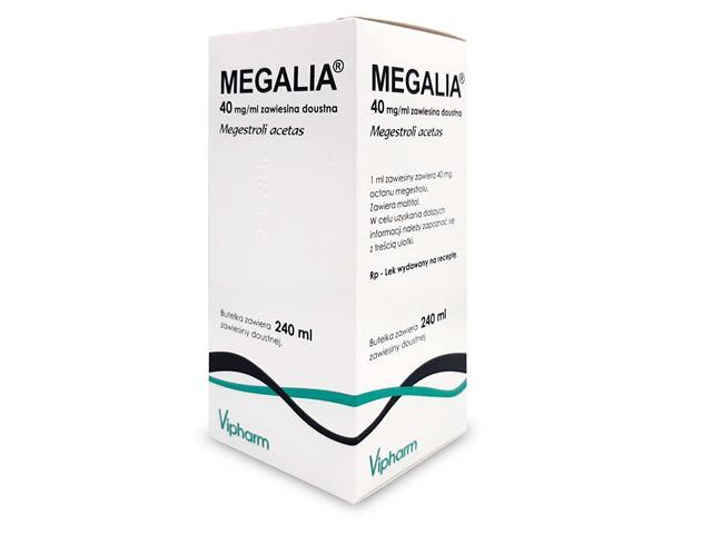 Megalia interakcje ulotka zawiesina doustna 0,04 g/ml 240 ml
