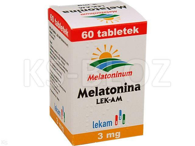 Melatonina LEK-AM interakcje ulotka tabletki 3 mg 60 tabl.