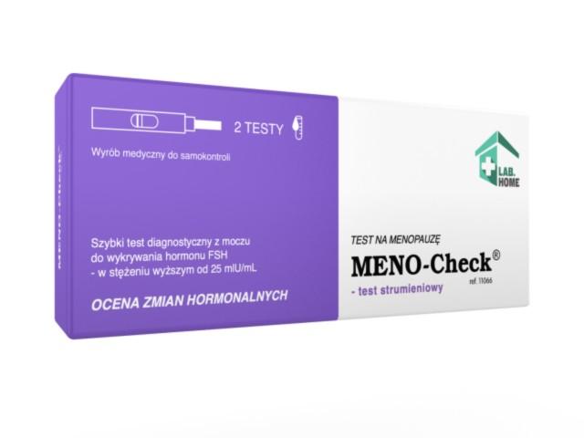 Meno-Check Test na menopauzę interakcje ulotka   2 szt.