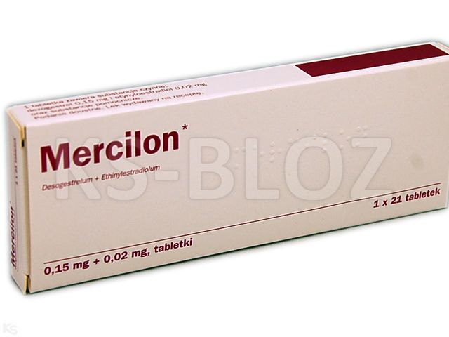 Mercilon interakcje ulotka tabletki 0,15mg+0,02mg 21 tabl.