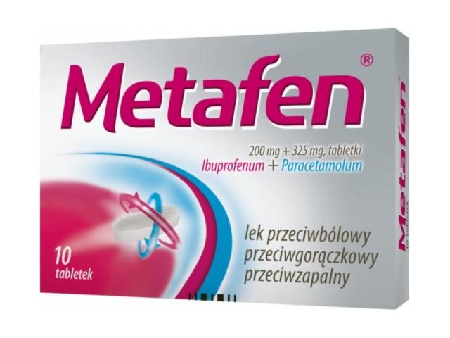 Metafen interakcje ulotka tabletki 0,2g+0,325g 10 tabl. | blister