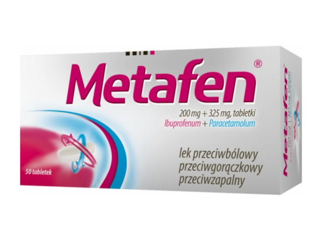 Metafen interakcje ulotka tabletki 0,2g+0,325g 50 tabl.