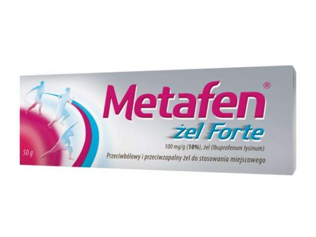 Metafen żel Forte (Ibufen) interakcje ulotka żel 0,1 g/g 50 g