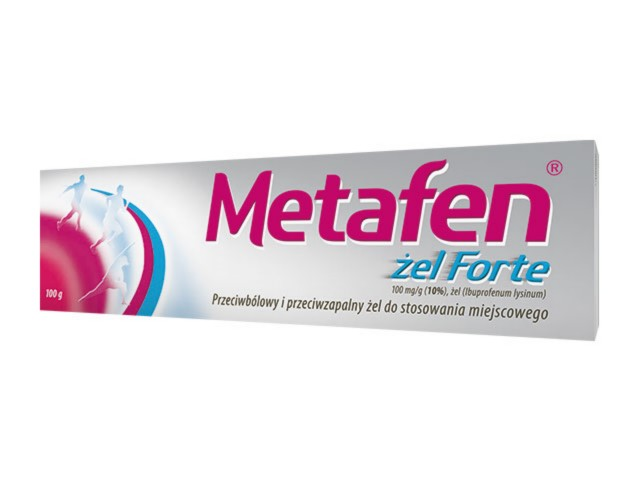 Metafen żel Forte interakcje ulotka żel 0,1 g/g 100 g