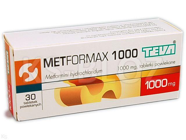 Metformax 1000 interakcje ulotka tabletki powlekane 1 g 30 tabl.