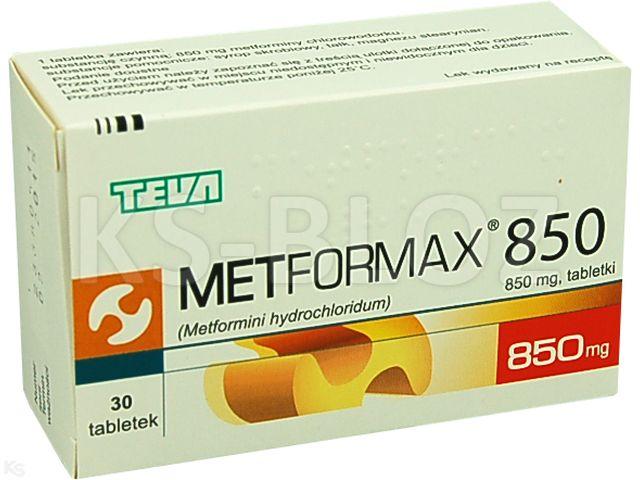 Metformax 850 interakcje ulotka tabletki 0,85 g 30 tabl.