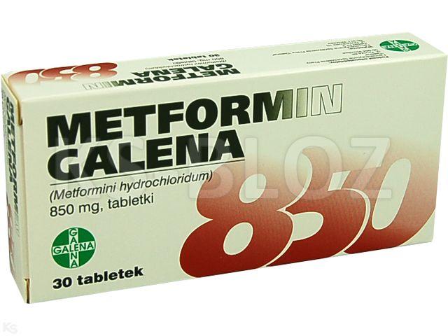 Metformin Galena interakcje ulotka tabletki 0,85 g 30 tabl.