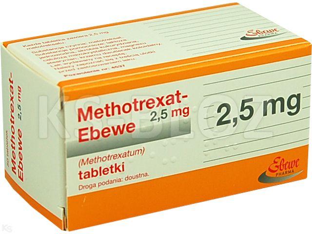 Methotrexat -Ebewe interakcje ulotka tabletki 2,5 mg 50 tabl.