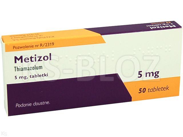 Metizol interakcje ulotka tabletki 5 mg 50 tabl.