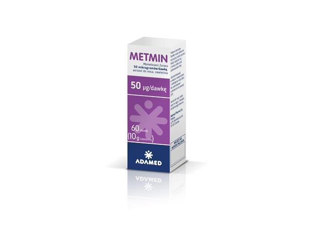 Metmin (Mometasone Adamed) interakcje ulotka aerozol do nosa, zawiesina 0,05 mg/daw. 1 but. po 60 daw.