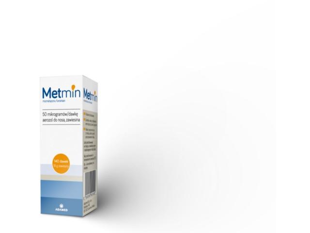 Metmin (Mometasone Adamed) (Mometasone Adamed) interakcje ulotka aerozol do nosa, zawiesina 0,05 mg/daw. 1 but. po 140 daw. | 18 g
