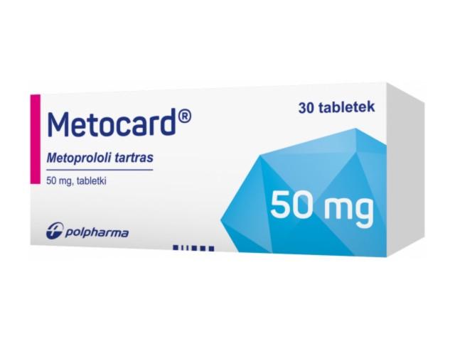 Metocard interakcje ulotka tabletki 0,05 g 30 tabl.