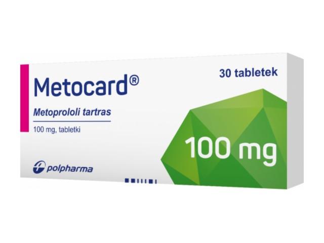 Metocard interakcje ulotka tabletki 0,1 g 30 tabl.