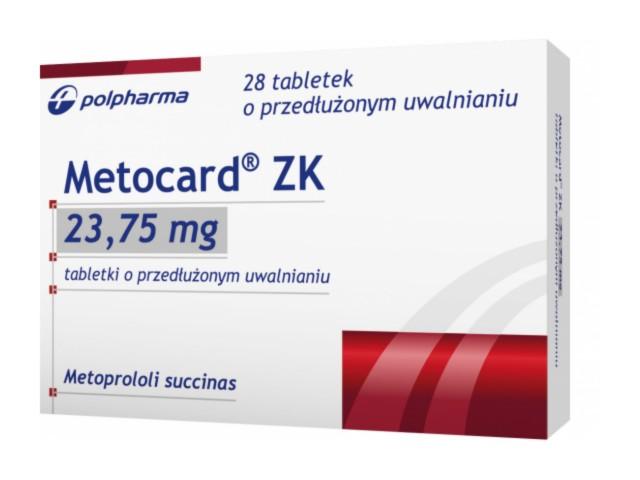Metocard ZK interakcje ulotka tabletki o przedłużonym uwalnianiu 0,02375 g 28 tabl.