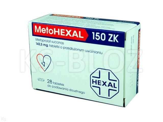 MetoHexal 150 ZK interakcje ulotka tabletki o przedłużonym uwalnianiu 0,1425 g 28 tabl.