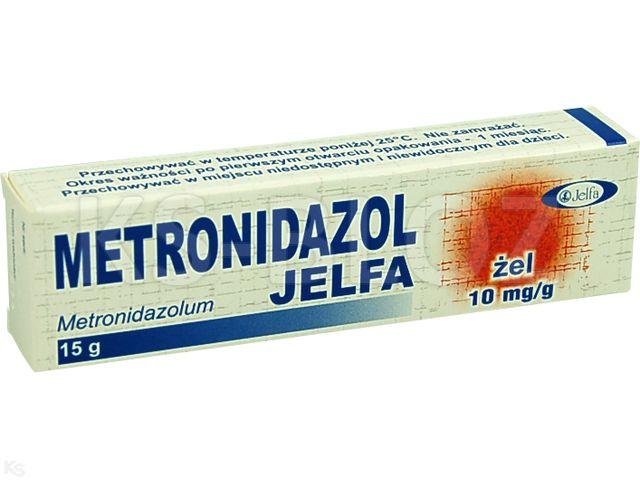 Metronidazol Jelfa interakcje ulotka żel 0,01 g/g 15 g