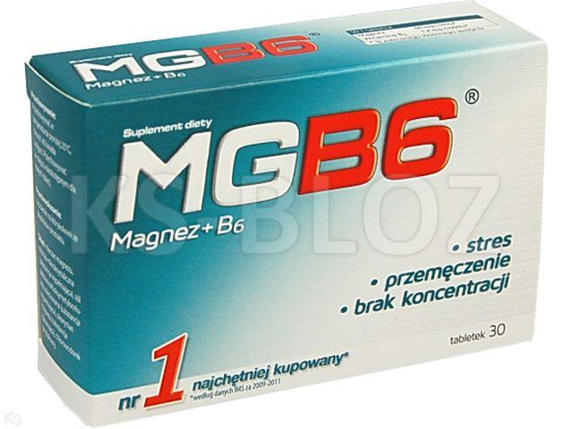 MgB6 interakcje ulotka tabletki  30 tabl.