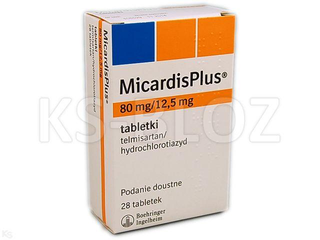 MicardisPlus interakcje ulotka tabletki 0,08g+0,0125g 28 tabl.