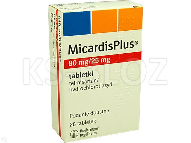 MicardisPlus interakcje ulotka tabletki 0,08g+0,025g 28 tabl.