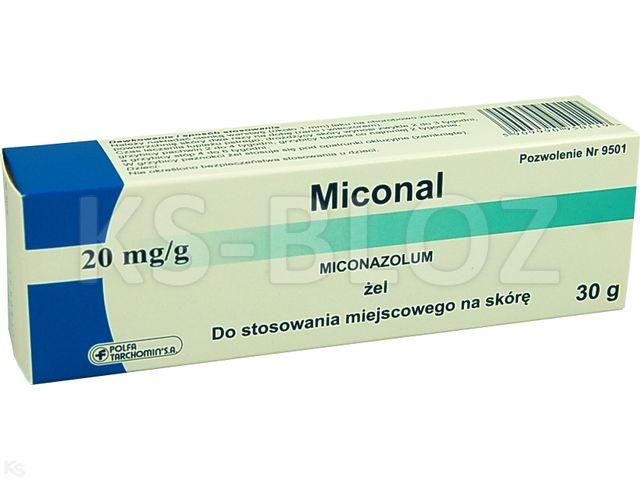 Miconal interakcje ulotka żel 0,02 g/g 30 g