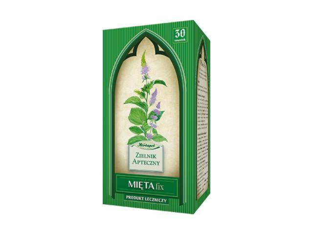 Mięta Fix interakcje ulotka zioła do zaparzania w saszetkach 2 g 30 toreb.