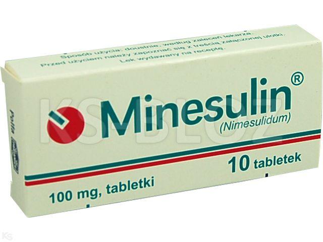 Minesulin interakcje ulotka tabletki 0,1 g 10 tabl.