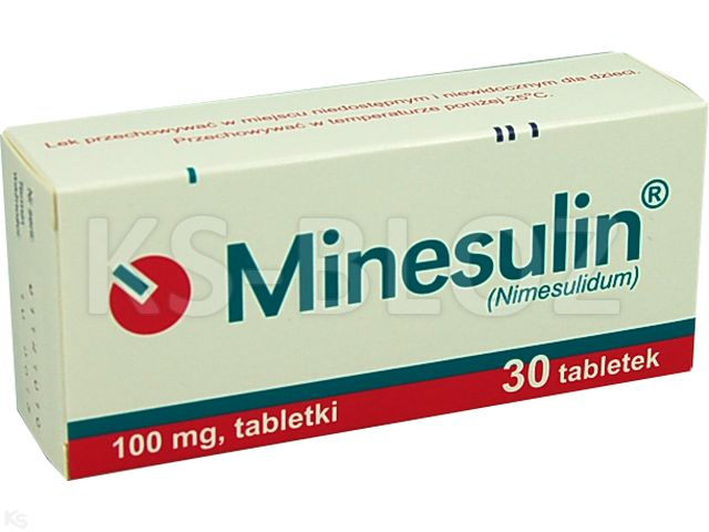 Minesulin interakcje ulotka tabletki 0,1 g 30 tabl.