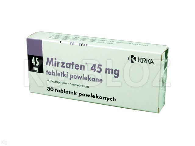 Mirzaten interakcje ulotka tabletki powlekane 0,045 g 30 tabl.