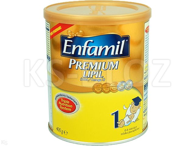 Mleko ENFAMIL 1 PREMIUM od 1m-ca interakcje ulotka   400 g