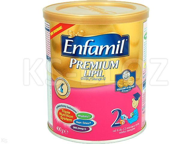 Mleko ENFAMIL 2 PREMIUM od 5m-ca interakcje ulotka   400 g