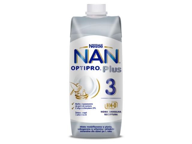 Mleko NAN Optipro Plus 3 HM-0 interakcje ulotka płyn  500 ml