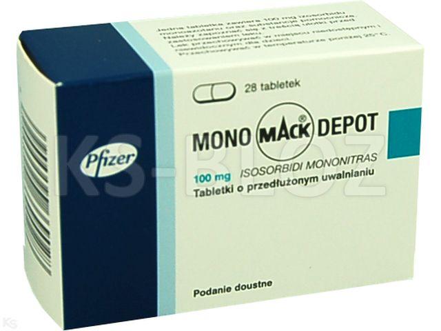 Mono-Mack Depot interakcje ulotka tabletki o przedłużonym uwalnianiu 0,1 g 28 tabl.