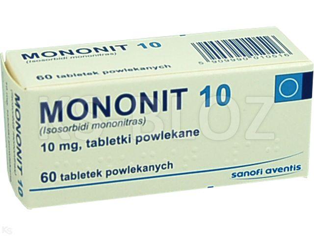 Mononit 10 interakcje ulotka tabletki powlekane 0,01 g 60 tabl.
