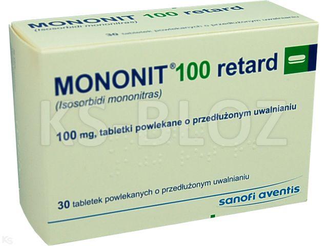 Mononit 100 retard interakcje ulotka tabletki o przedłużonym uwalnianiu 0,1 g 30 tabl.